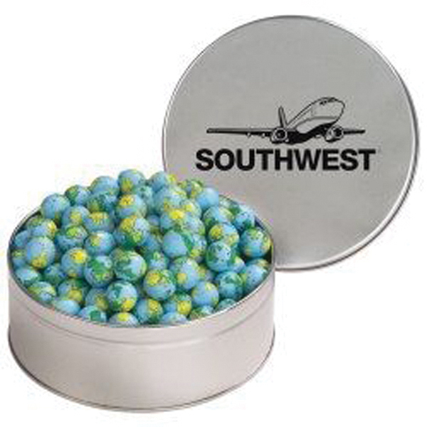 Personalized Snack Tin with Chocolate Earth Balls