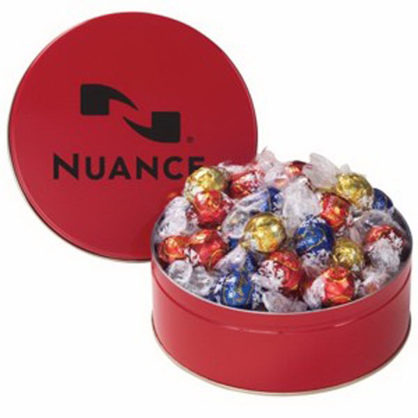 Imprinted Snack Tin with Lindt (R) Truffles