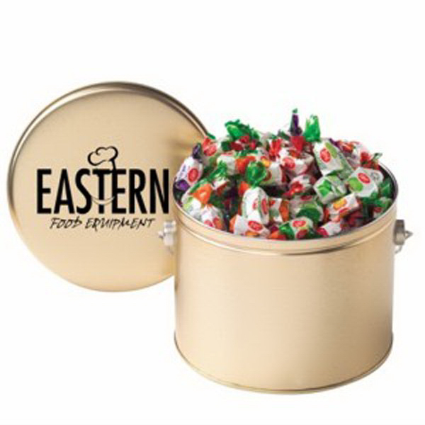 Customized Half Gallon Tin with Hard Candies