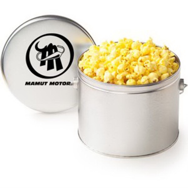 Custom Half Gallon Tin / Classic Butter Popcorn
