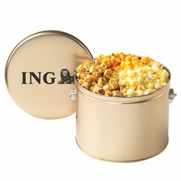 Customized Half Gallon Tin / 3 Way Popcorn