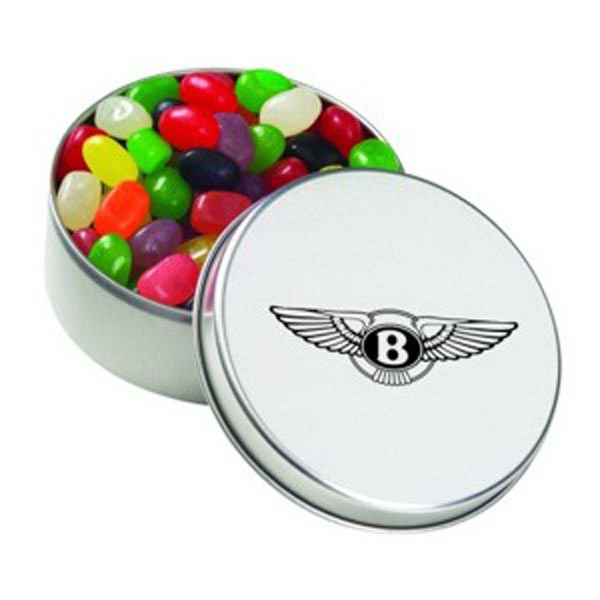 Customized Large Round Tin / Jelly Beans Assorted