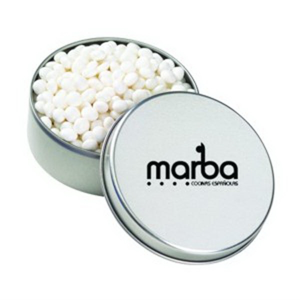 Promotional Large Round Tin / White Mints