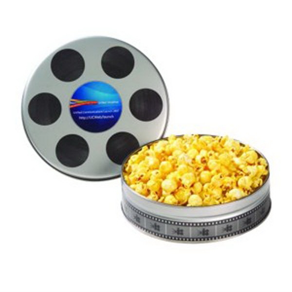 Personalized Small Film Reel Tin / Butter Popcorn
