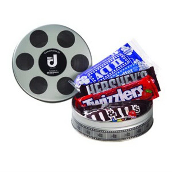Promotional Small Film Reel Tin / Movie Pack