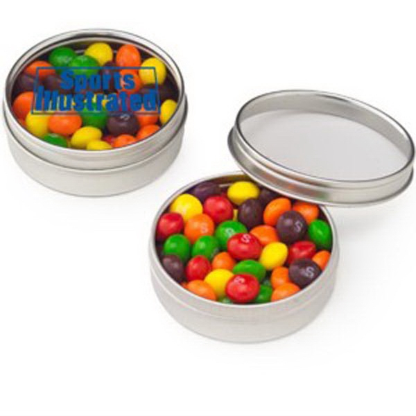Customized Small Clear Window Tin with Skittles®
