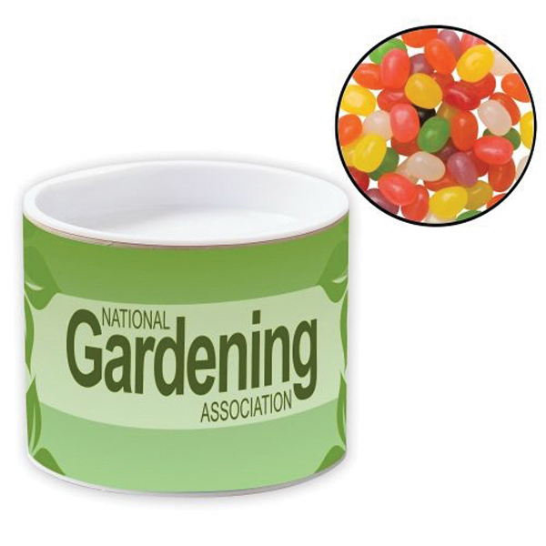 Promotional Pop-Top Container / Jelly Beans Assorted