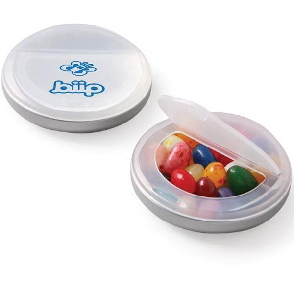 Promotional Snap Top Candy Case / Gourmet Jelly Beans