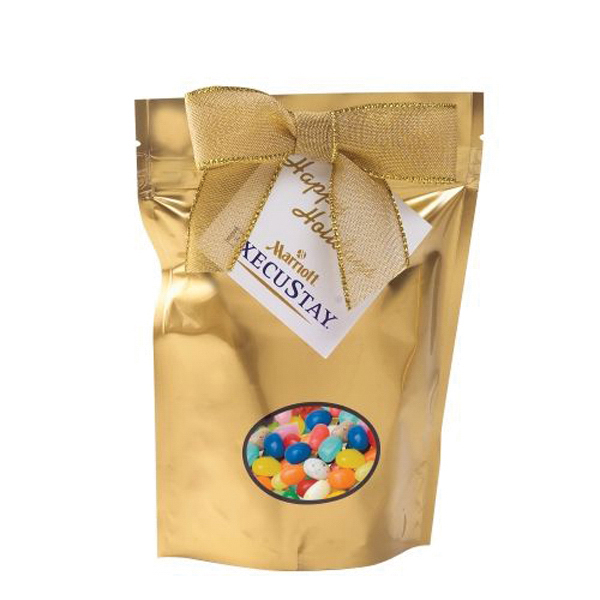 Imprinted Small Window Bag with Gourmet Jelly Beans