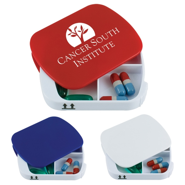 Customized Four Compartment Pill Box
