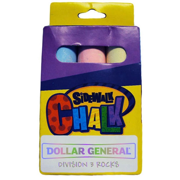 "Promotional Set of three  4"" jumbo chalk"