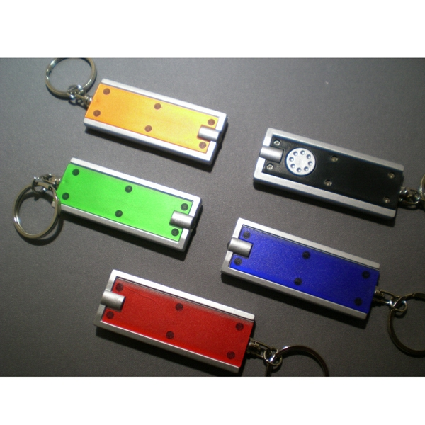 Printed Flashlight Key Chain