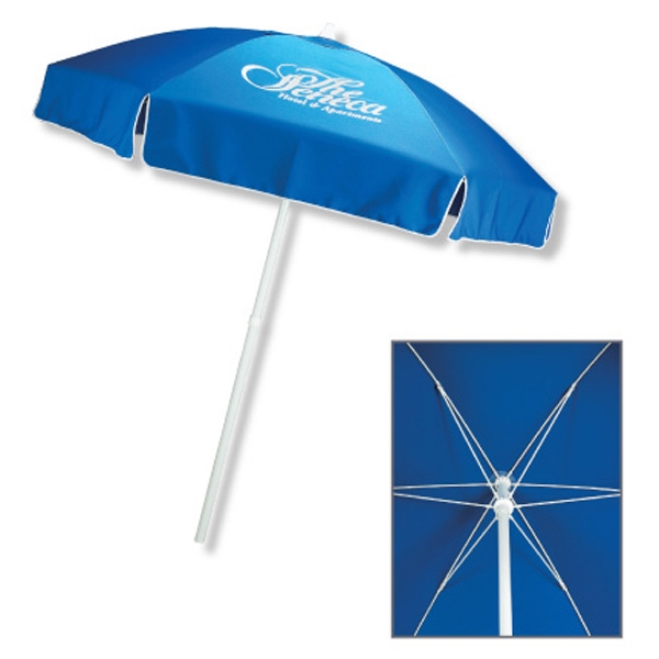 Promotional In Stock Polyester Patio/Cafe Umbrella with Fiberglass Ribs