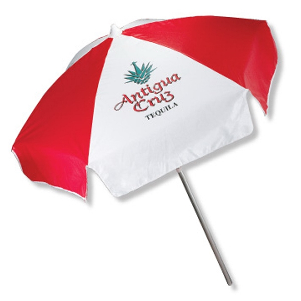 Promotional In Stock Vinyl Patio/Cafe Umbrella