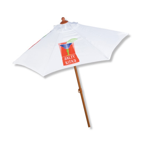 Imprinted In Stock Aluminum 6 Foot Market Umbrella