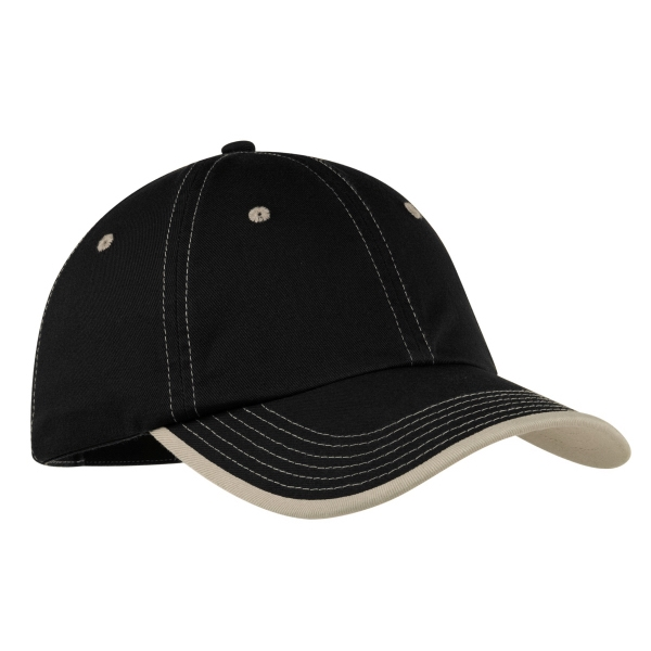 Customized Port Authority® vintage washed contrast stitch cap