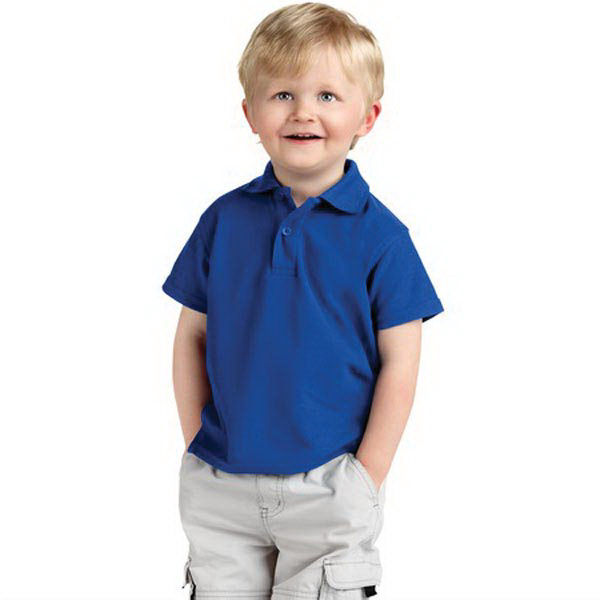 Printed Precious Cargo® Silk Touch (TM) toddler polo shirt