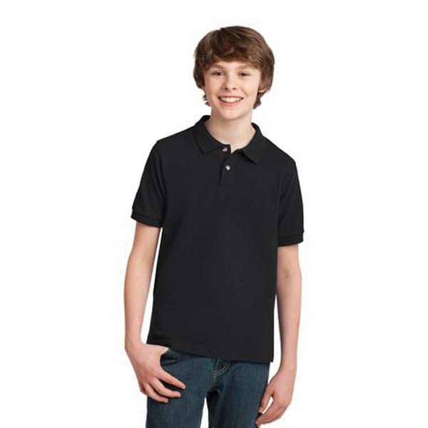 Printed Port Authority® youth pique knit sport shirt