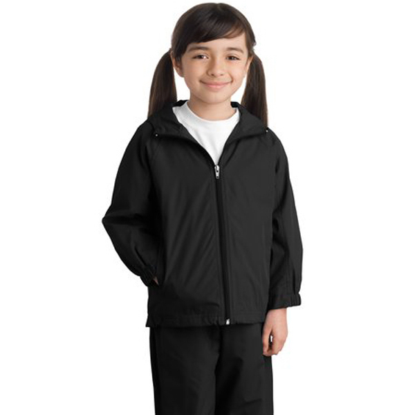 Printed Youth Sport-Tek® hooded raglan jacket