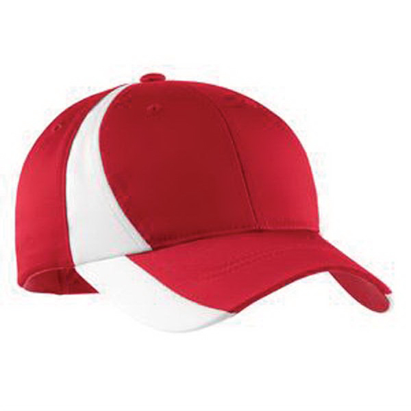 Personalized Sport-Tek® youth Dry Zone colorblock cap