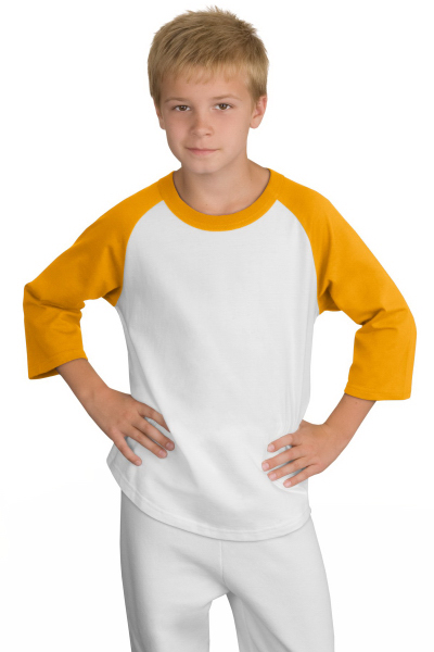 Personalized Port Authority® Sport-tek® youth colorblock raglan jersey