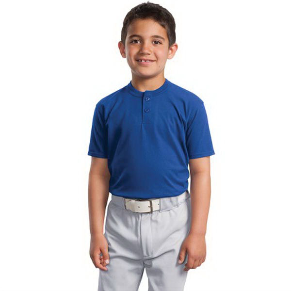 Custom Sport-Tek® youth short sleeve henley