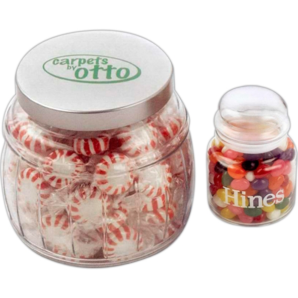 Personalized Tootsie Rolls in Large Apothecary Jar
