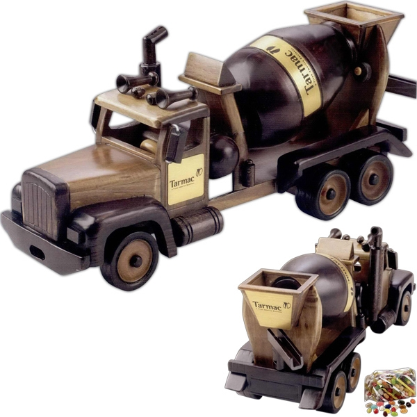 Promotional Deluxe Mixed Nuts in Wooden Cement Mixer