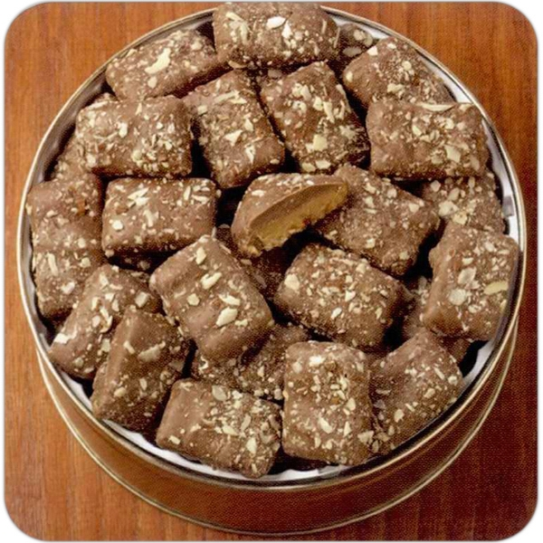 Imprinted 48 oz. English Toffee in Custom Gift Tin