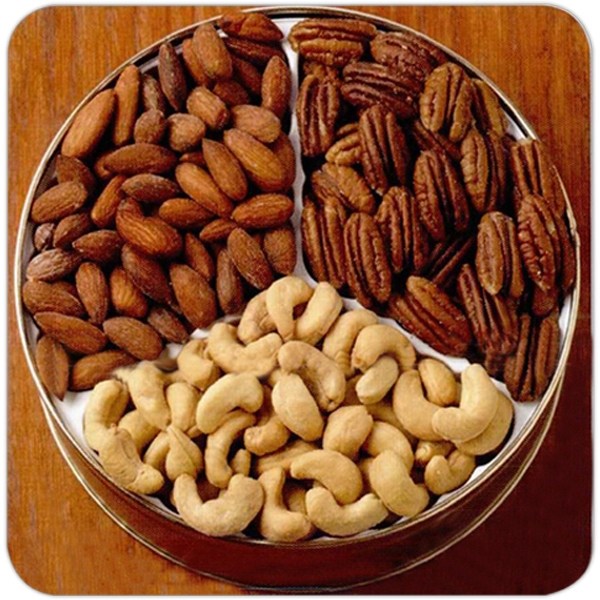 Personalized 24 oz. Cashews/Almonds/Pecans in Designer Tin