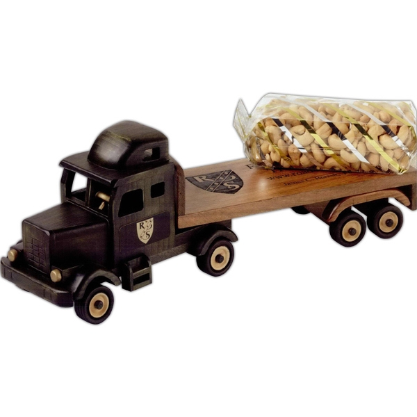 Personalized Deluxe Mixed Nuts in Flat Bed Truck
