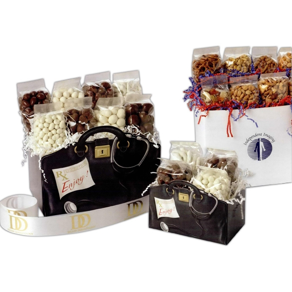 Imprinted Nuts to You! Solid Color Gift Box (Large)
