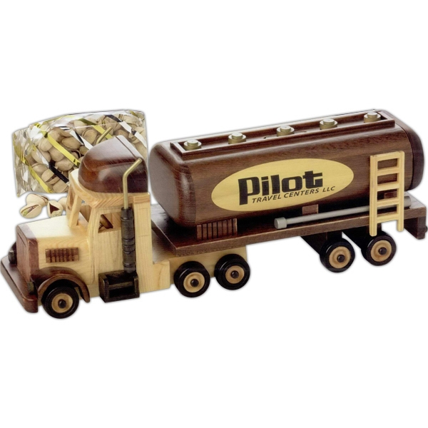 Customized Wooden Oil Tanker Truck - Empty