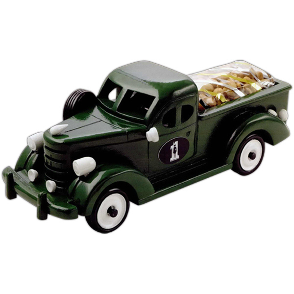 Personalized Chocolate Covered Almonds in Green Pickup Truck