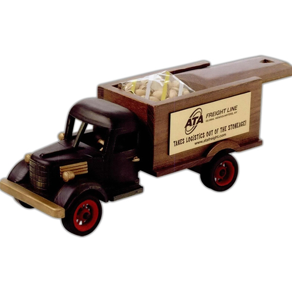 Printed Chocolate Covered Almonds in Sliding Lid Truck