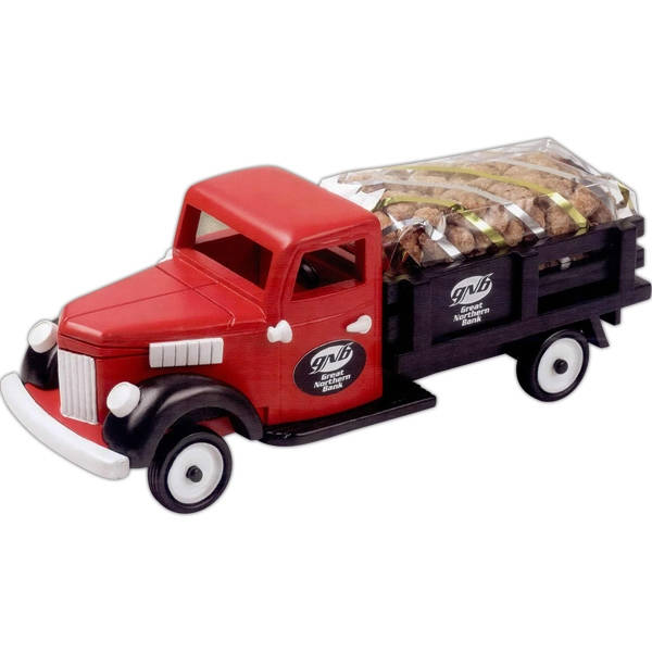 Promotional Pistachios in Red Stake Truck