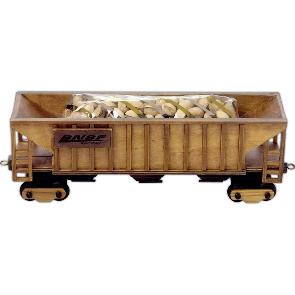 Customized Cinnamon Almonds in Train Hopper Car