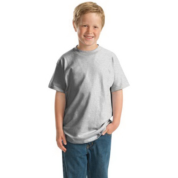Imprinted Hanes® youth Beefy-T® born to be worn 100% cotton t-shirt
