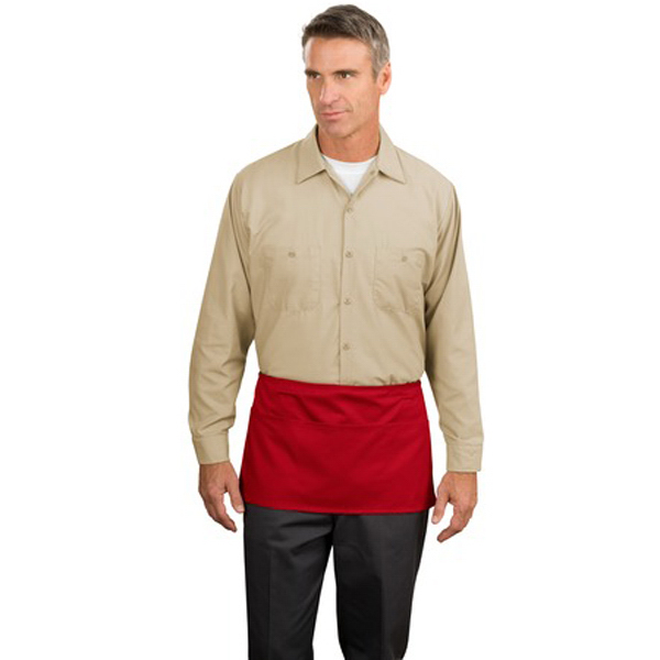 Imprinted Port Authority® waist apron with pockets
