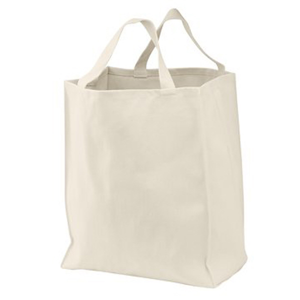 Custom Port Authority® 100% organic cotton grocery tote