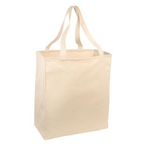 Personalized Port & Company® over-the-shoulder grocery tote