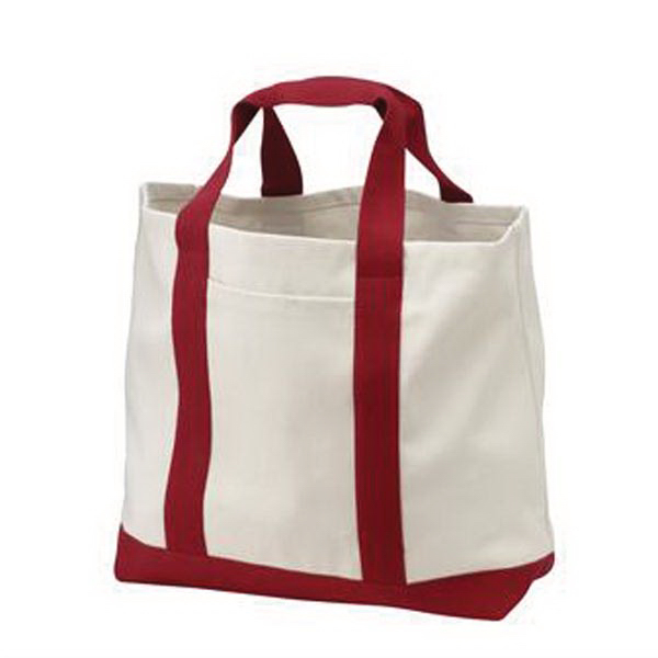 Imprinted Port & Company® two-tone shopping tote
