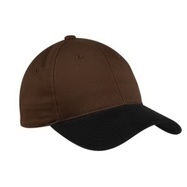 Printed Port Authority® two-tone brushed twill cap