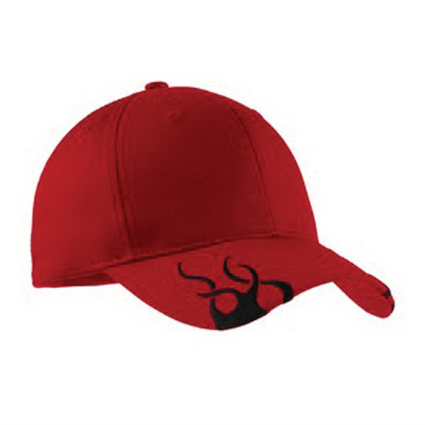 Imprinted Port Authority® racing cap with flames