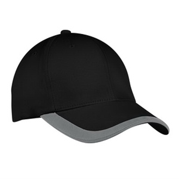 Printed Port Authority® contrast stripe sandwich bill cap