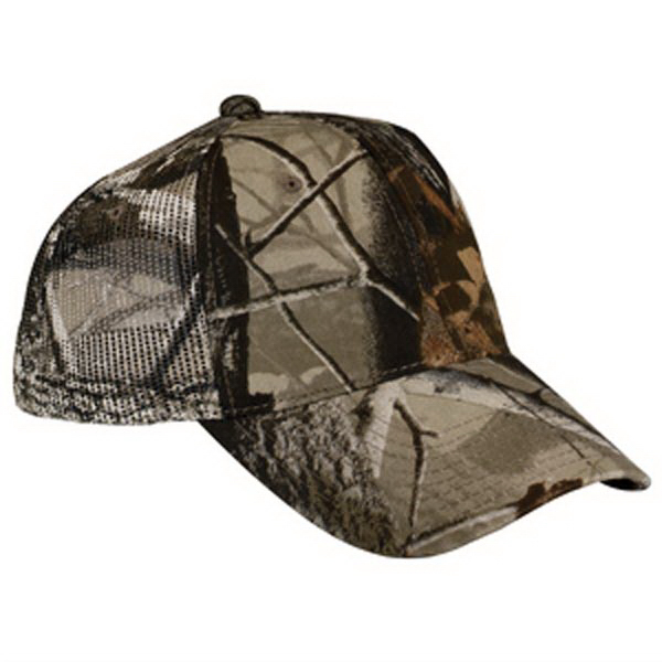Customized Port Authority® pro camouflage series cap with mesh back