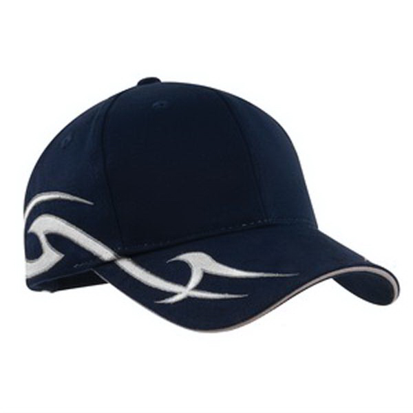 Imprinted Port Authority® racing cap with sickle flames