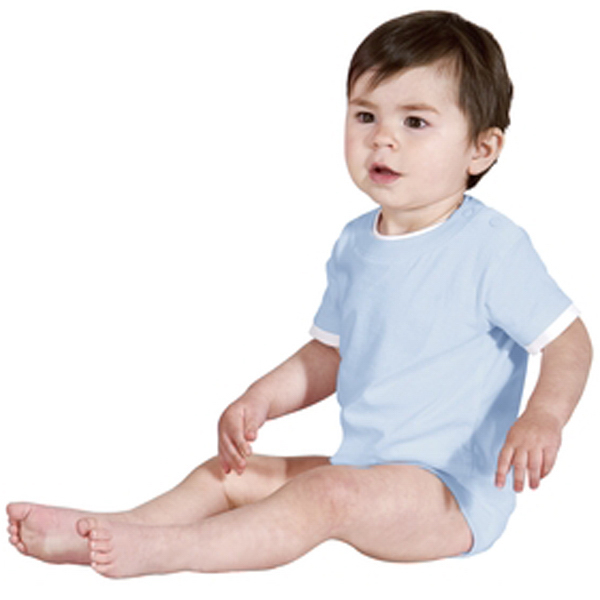 Printed Precious Cargo® short sleeve infant 1-piece, shoulder snaps