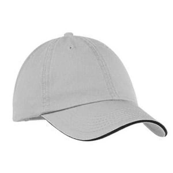 Promotional Port & Company® washed twill sandwich bill cap