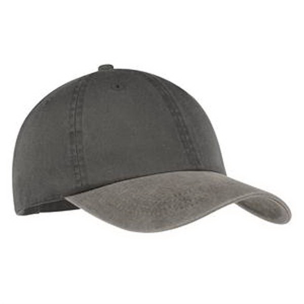 Imprinted Port & Company® two-tone pigment-dyed cap